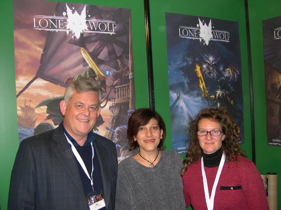 Joe Dever con Aloona e la sua compagna