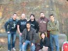 Foto di gruppo sotto le mura